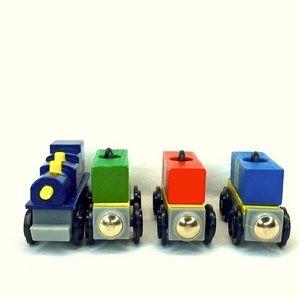 7 Piece Lot Wooden Trains KidKraft
